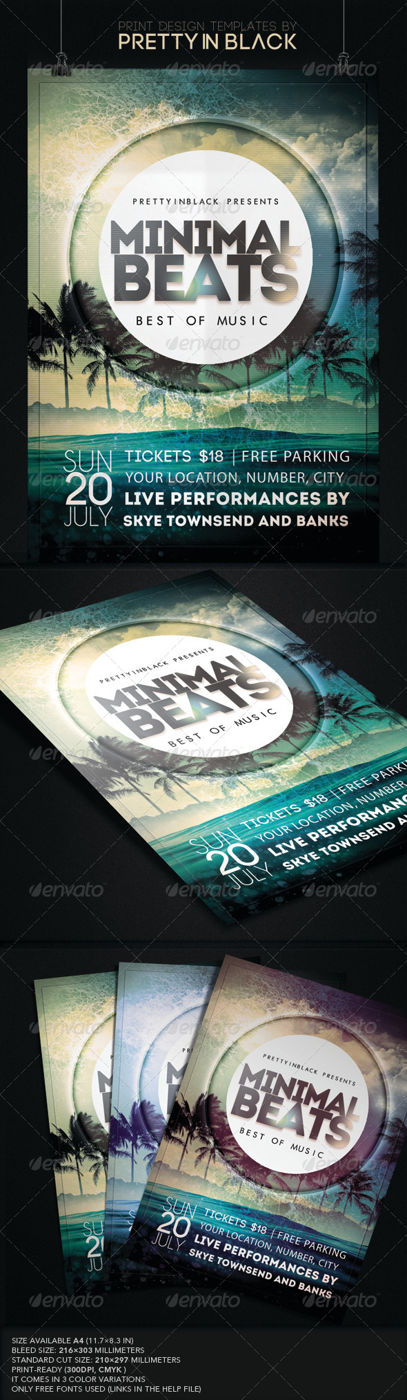 GraphicRiver Minimal Beats Flyer 7901581