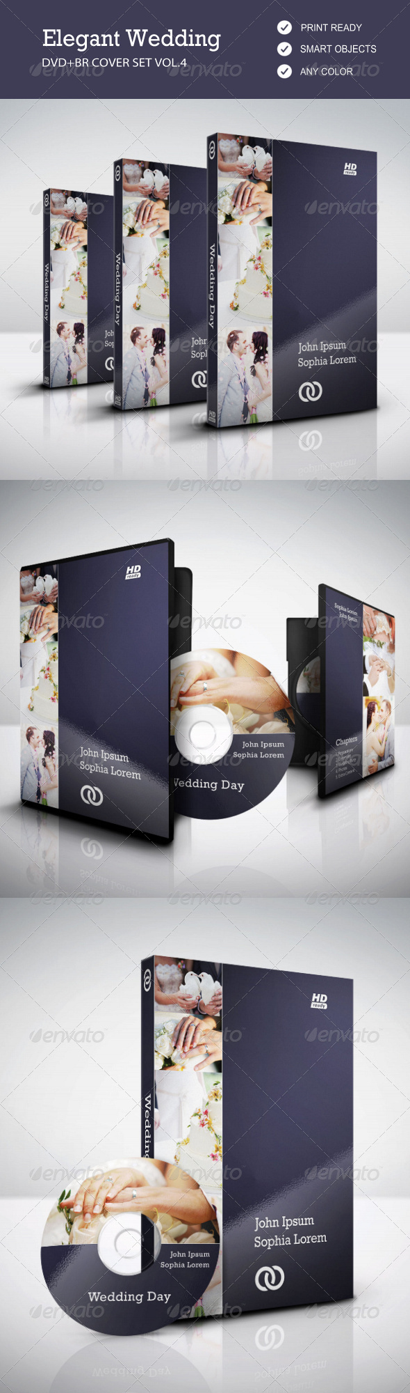 GraphicRiver Elegant Wedding DVD & BR Cover Set vol.4 7902068