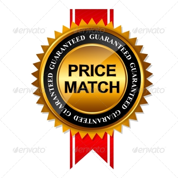 GraphicRiver Price Match Guarantee Gold Label Sign 7902105