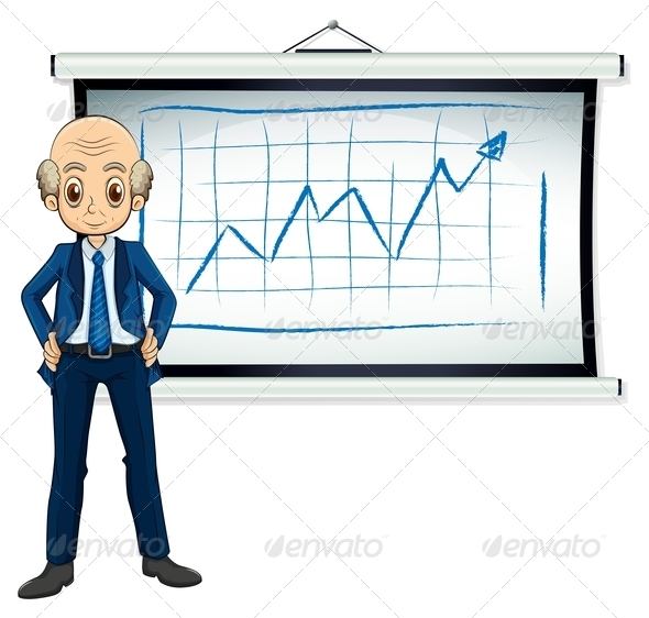 GraphicRiver Older Businessman in Front of Chart 7902609