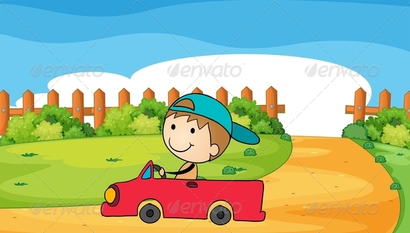 GraphicRiver Boy in Toy Car 7902933