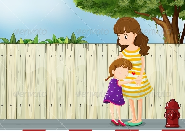 GraphicRiver Mother and Child Scene 7902942
