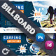 Camping Adventure Billboard Templates - GraphicRiver Item for Sale