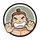 Sumo Master Logo Mascot - GraphicRiver Item for Sale