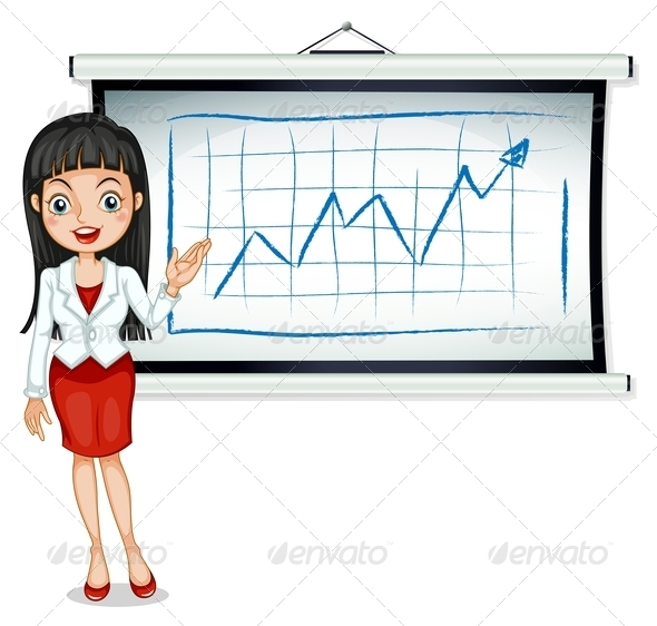 GraphicRiver A Formal Lady in Front of the Bulletin Board 7905000