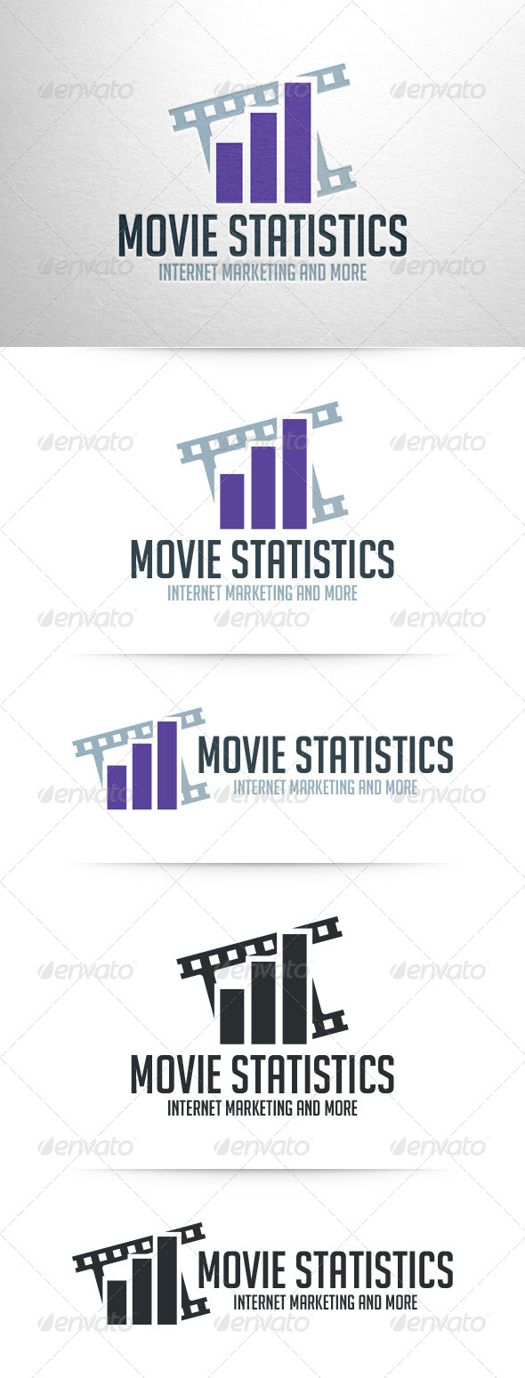 GraphicRiver Movie Statistics Logo Template 7905080