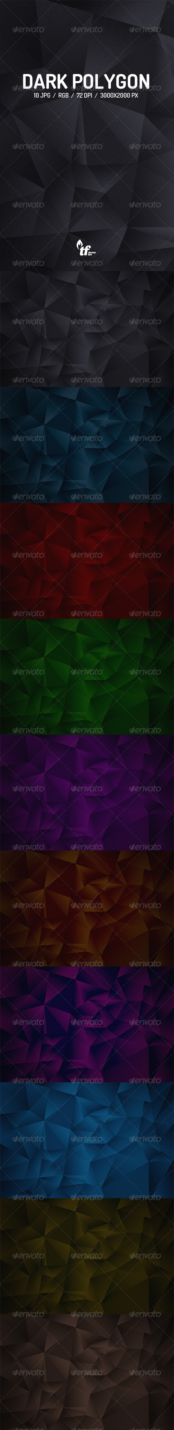 GraphicRiver Dark Polygon Backgrounds 7905725