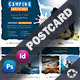 Camping Adventure Postcard Templates - GraphicRiver Item for Sale