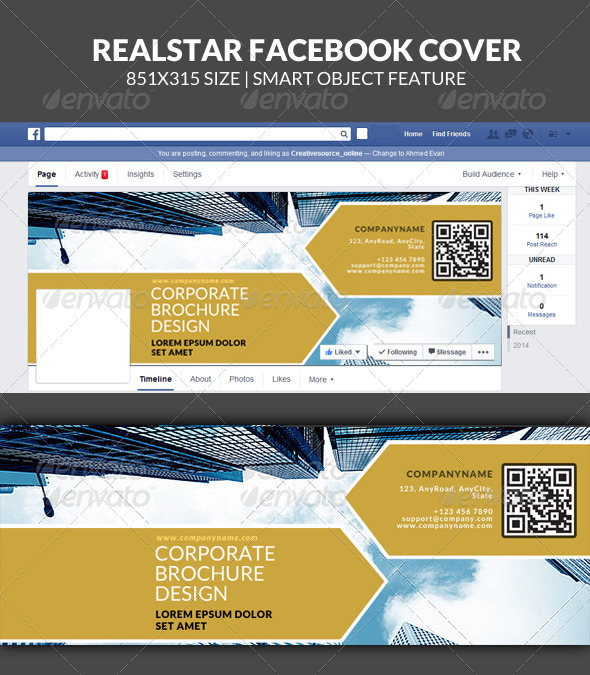 GraphicRiver Realstar Corporate Facebook Timeline Cover 7906154