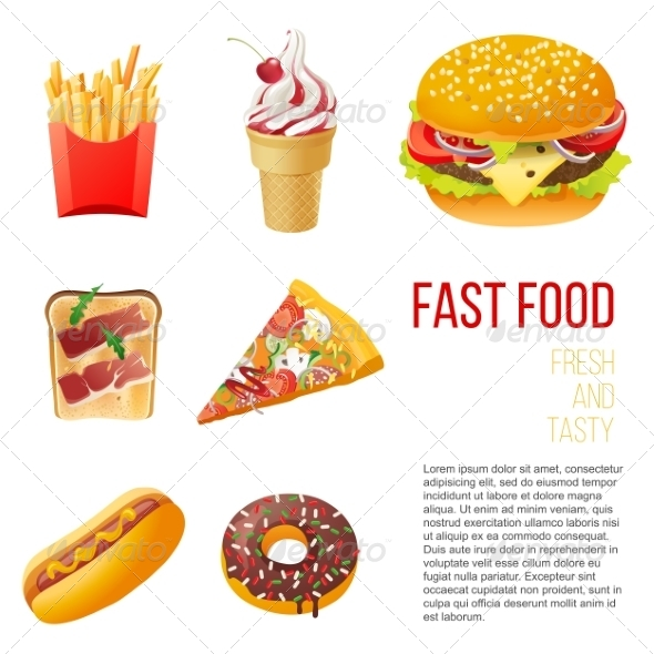 GraphicRiver Fast Food Icons 7907080