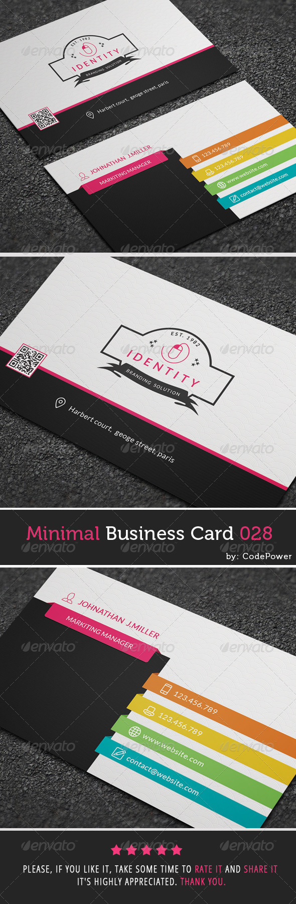 GraphicRiver Minimal Business Card 028 7907216