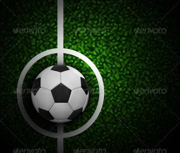 GraphicRiver Football Field with Ball and a Grass Texture 7907860