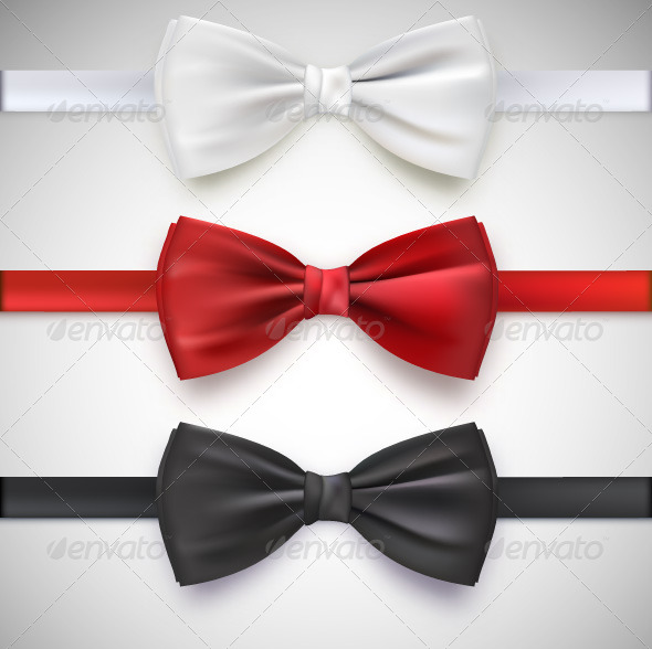 GraphicRiver Three Bow Ties 7907868