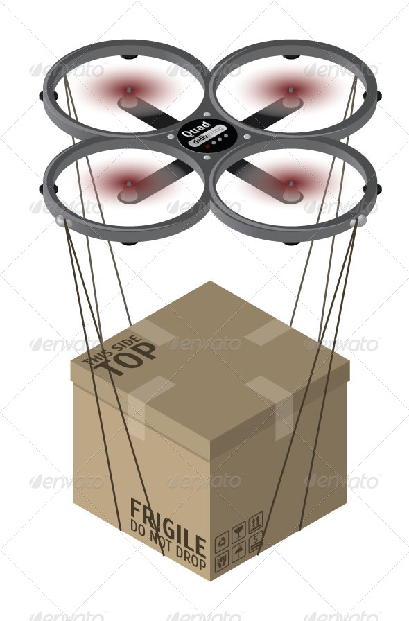 GraphicRiver Quadrocopter Delivery 7908117