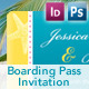 Beach Style Boarding Pass Invitation - GraphicRiver Item for Sale