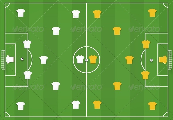 GraphicRiver Soccer Field with Players 7909019