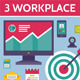 3 Illustrations of Workplace - GraphicRiver Item for Sale