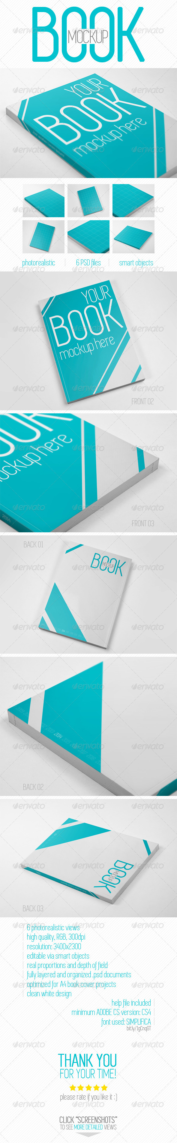 GraphicRiver Book Cover Mock-up 7909442