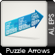 Arrow Puzzle - Increasing and Decreasing - GraphicRiver Item for Sale