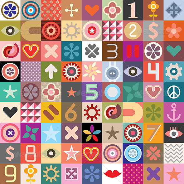 GraphicRiver Abstract Symbols Collage 7910549