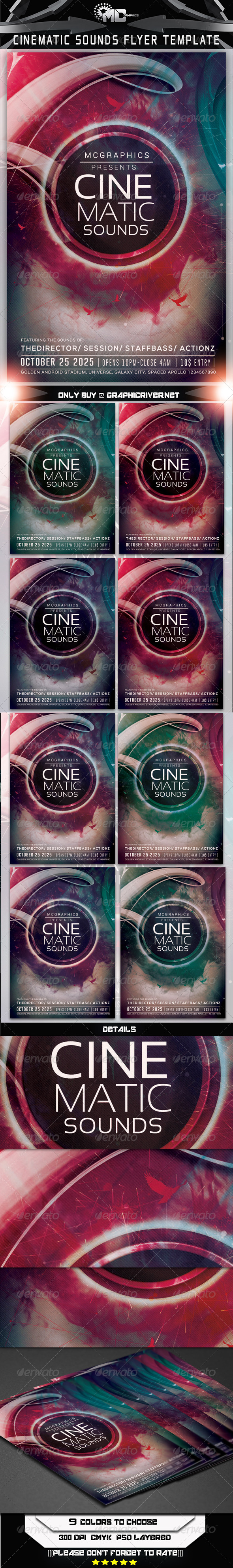 GraphicRiver Cinematic Sounds Flyer Template 7911152