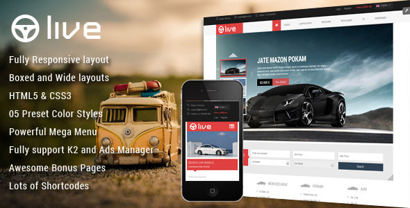ThemeForest SJ Live Responsive Classified Joomla Template 7849156