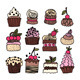 Set of Hand Drawn Cakes and Desserts - GraphicRiver Item for Sale