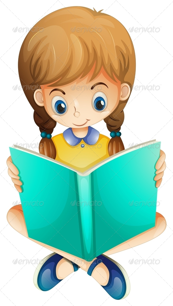 GraphicRiver Girl Reading Book 7911651