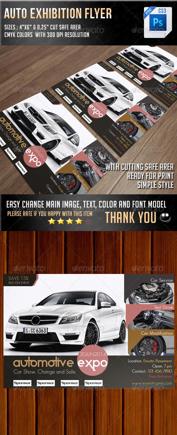 GraphicRiver Auto Exhibition Flyer V10 7201120