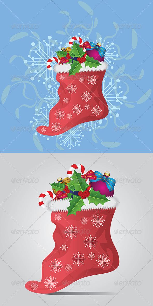 GraphicRiver Christmas Sock 7911985