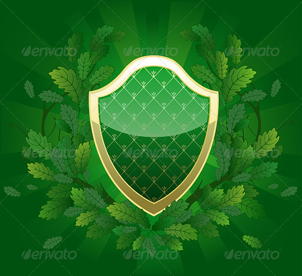 GraphicRiver Green Shield 7912054