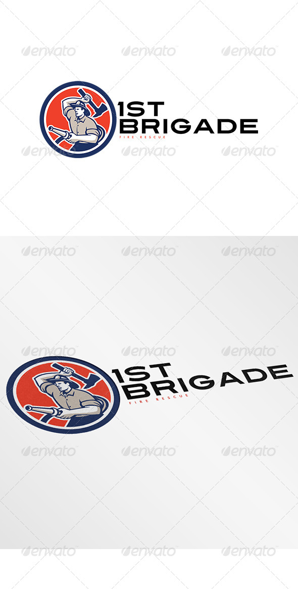 GraphicRiver First Brigade Fire Rescue Logo 7912495