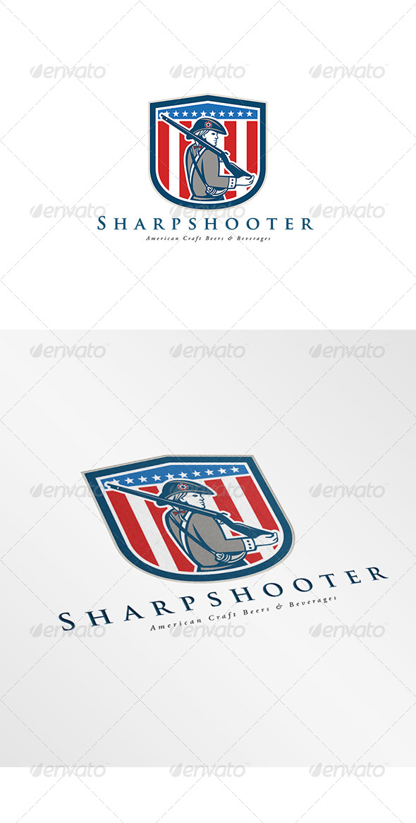 GraphicRiver Sharpshooter American Craft Beer Logo 7912513