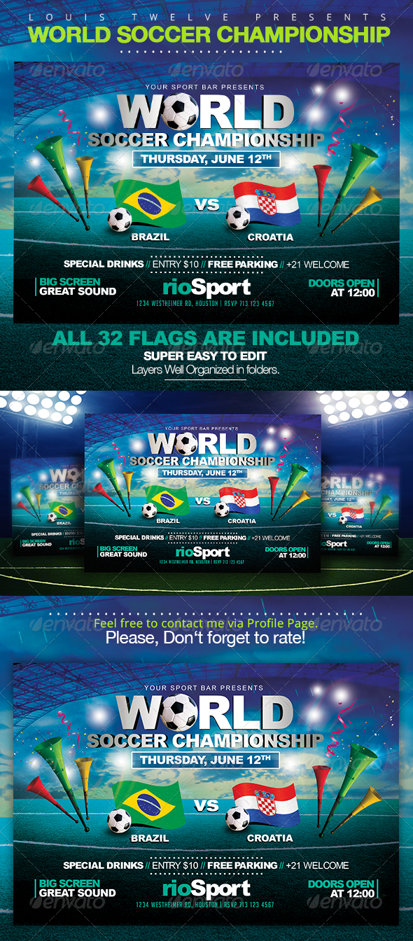 GraphicRiver World Championship 2014 Horizontal Flyer 7912641