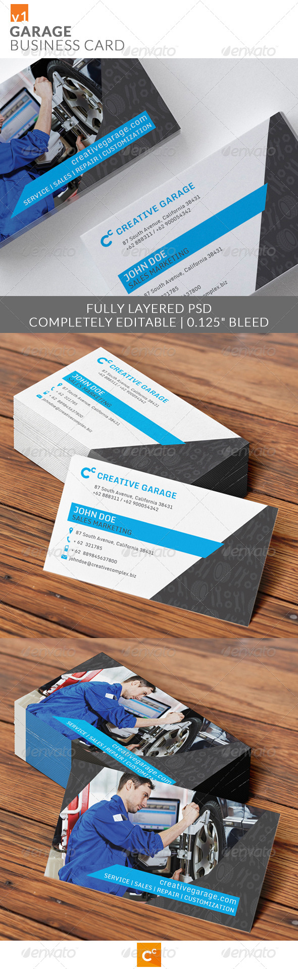 GraphicRiver Garage Business Card 7912892