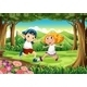 A Forest with a Young Boy and Girl - GraphicRiver Item for Sale