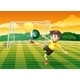 An Athlete Kicking the Ball with the Flag of Pakis - GraphicRiver Item for Sale