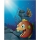 Scary Piranha Under the Sea Near the Rocks - GraphicRiver Item for Sale