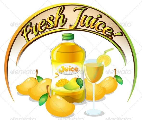 GraphicRiver Fresh Mango Juice Label 7913164