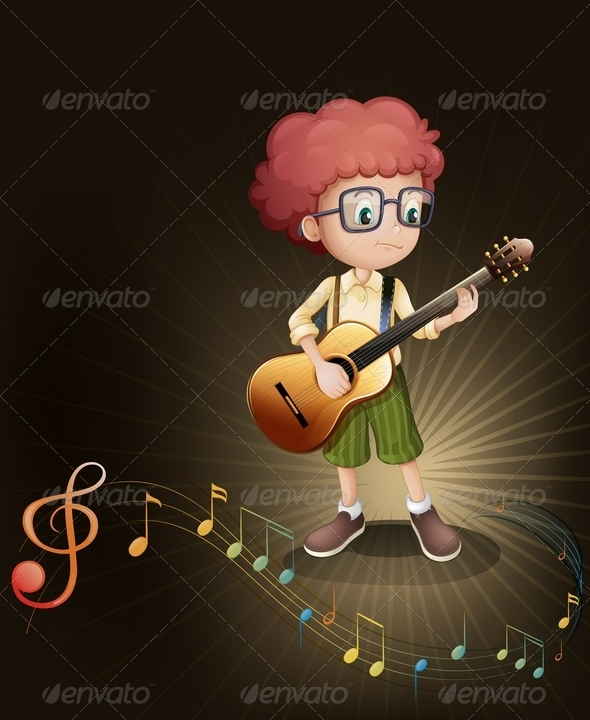 GraphicRiver A Talented Boy with a Guitar 7913345