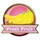 Fresh Fruit Label with Ripe Bananas - GraphicRiver Item for Sale