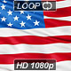 Realistic 3d looping USA flag waving in the wind. - VideoHive Item for Sale