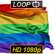 Realistic 3D detailed slow motion rainbow flag - VideoHive Item for Sale