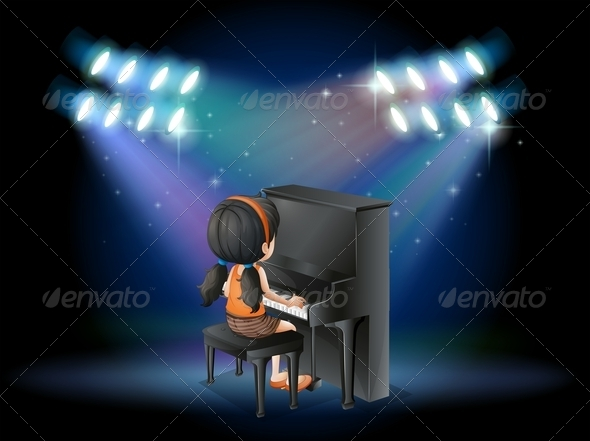 GraphicRiver A Stage with a Young Pianist Performing 7915735