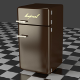 Fridge Freezer Combi brown - 3DOcean Item for Sale