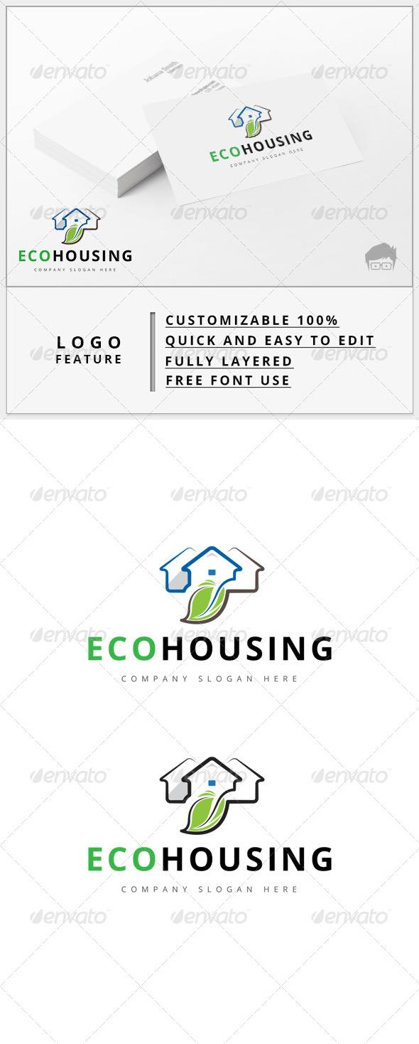 GraphicRiver Eco Housing Logo 7900446