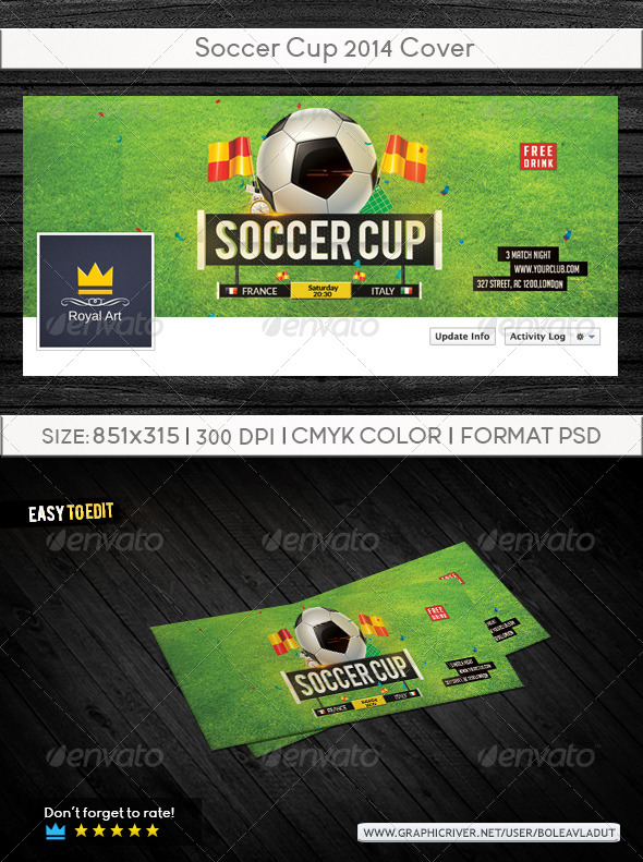 GraphicRiver Soccer Cup 2014 Cover 7900369