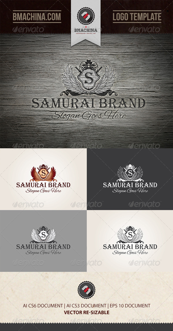GraphicRiver Samurai Brand Logo Template 7920506
