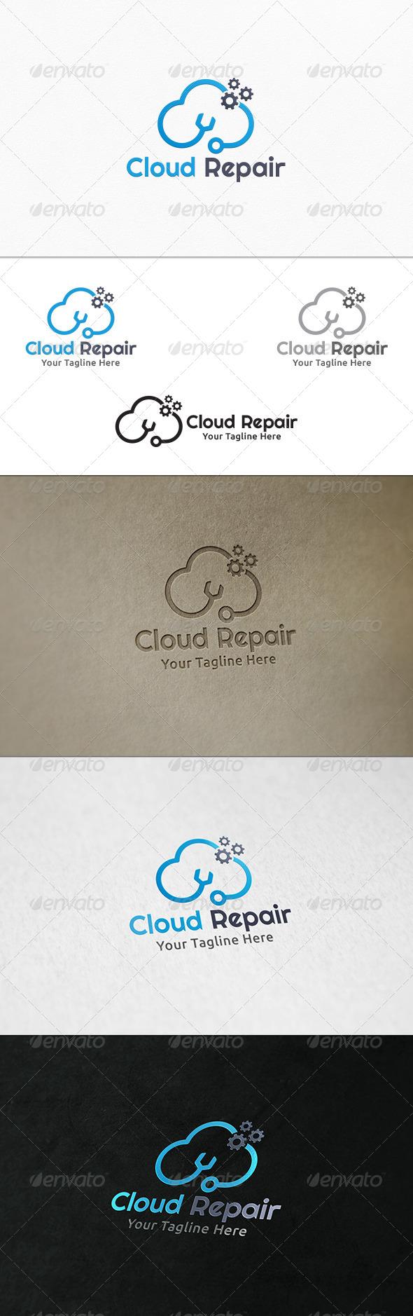 GraphicRiver Cloud Repair Logo Template 7920975