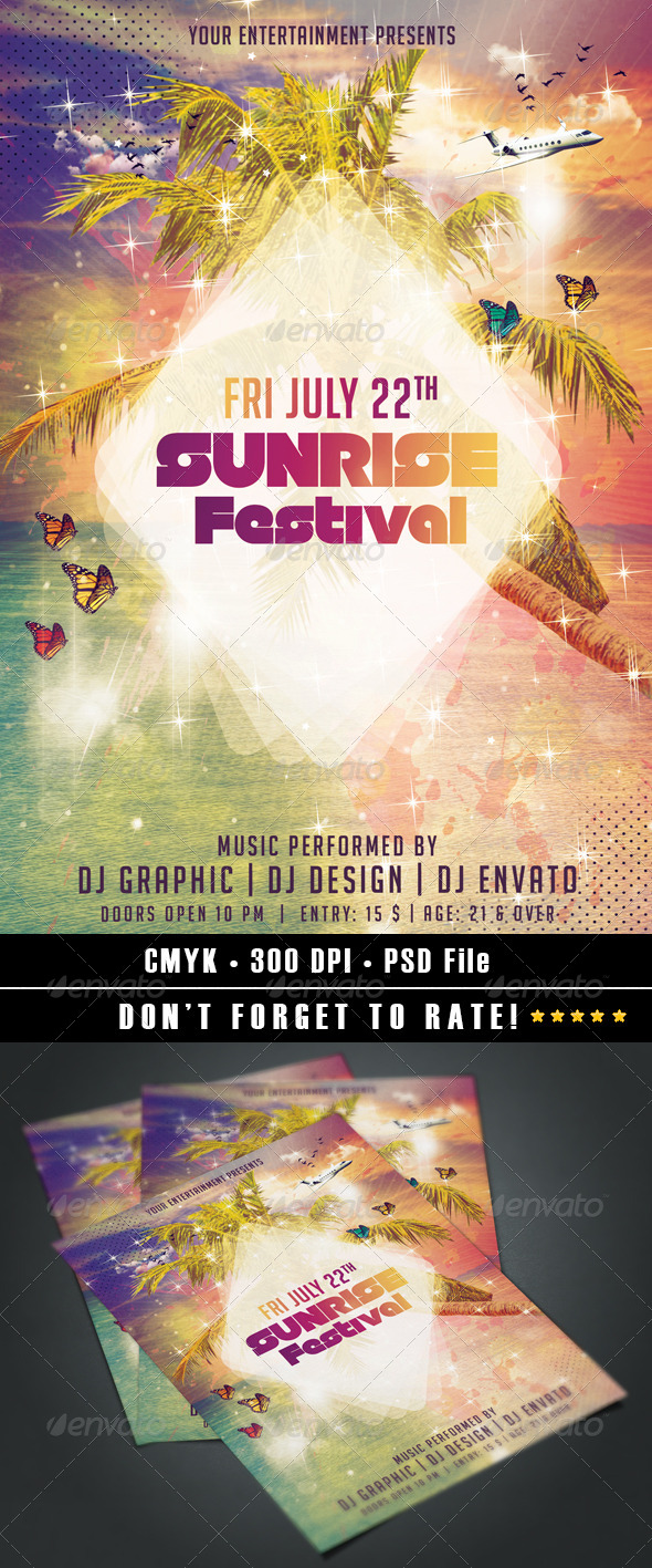 GraphicRiver Sunrise Festival 7921019